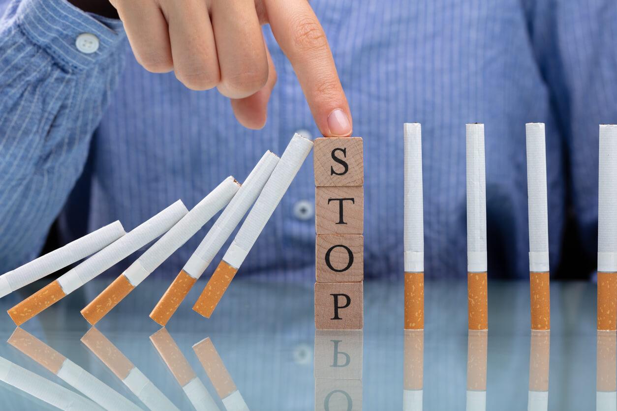 Domino effect of cigarettes for how to quit smoking